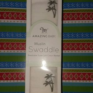 Other - New baby muslin cotton swaddle blanket